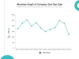 Mountain Graph Of Company One Year Sale