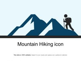 Mountain Hiking Icon