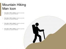 Mountain Hiking Man Icon