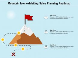 Mountain Icon Exhibiting Sales Planning Roadmap
