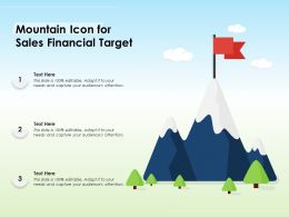 Mountain Icon For Sales Financial Target