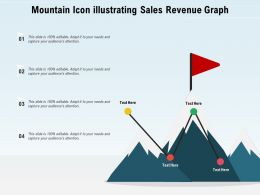 Mountain Icon Illustrating Sales Revenue Graph