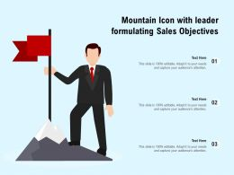 Mountain Icon With Leader Formulating Sales Objectives