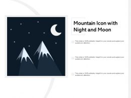 Mountain Icon With Night And Moon
