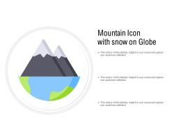 Mountain Icon With Snow And Globe