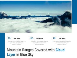Mountain Ranges Covered With Cloud Layer In Blue Sky