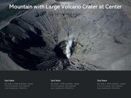 Mountain With Large Volcano Crater At Center