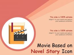Movie Based On Novel Story Icon