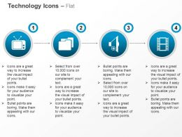 Movie Recording Icons Technology Ppt Icons Graphics