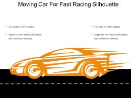 Moving Car For Fast Racing Silhouette