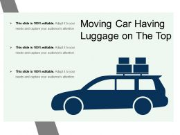 Moving Car Having Luggage On The Top