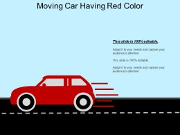 Moving Car Having Red Color