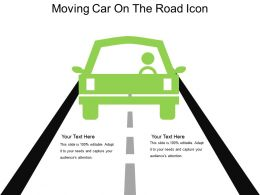 Moving Car On The Road Icon