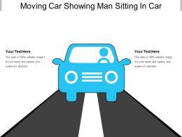 Moving Car Showing Man Sitting In Car