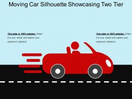 Moving Car Silhouette Showcasing Two Tier