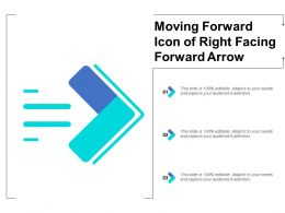 Moving Forward Icon Of Right Facing Forward Arrow