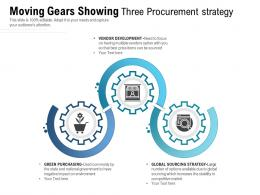 Moving Gears Showing Three Procurement Strategy