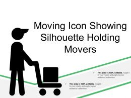 Moving Icon Showing Silhouette Holding Movers