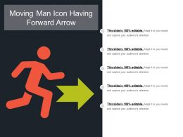 Moving Man Icon Having Forward Arrow