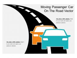 Moving Passenger Car On The Road Vector
