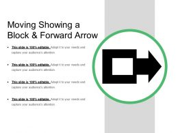 Moving Showing A Block And Forward Arrow