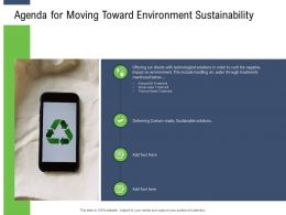Moving Toward Environment Sustainability Agenda For Moving Toward Environment Sustainability Ppt Diagrams