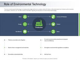 Moving Toward Environment Sustainability Role Of Environmental Technology Ppt Powerpoint Show