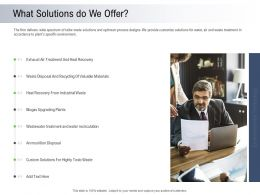 Moving Toward Environment Sustainability What Solutions Do We Offer Ppt Powerpoint Clipart