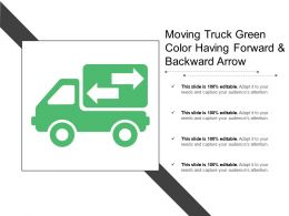 Moving Truck Green Color Having Forward And Backward Arrow