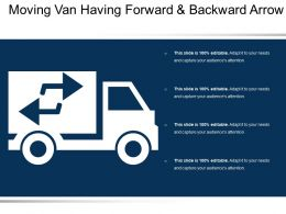 Moving Van Having Forward And Backward Arrow