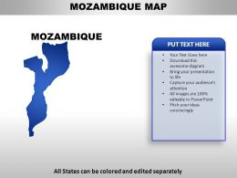 Mozambique Country Powerpoint Maps