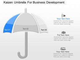 mp Kaizen Umbrella For Business Development Powerpoint Temptate
