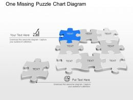 mq One Missing Puzzle Chart Diagram Powerpoint Template