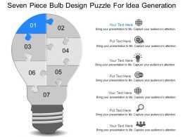 mr Seven Piece Bulb Design Puzzle For Idea Generation Powerpoint Temptate