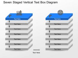 mr Seven Staged Vertical Text Box Diagram Powerpoint Template
