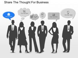 mr Share The Thought For Business Powerpoint Template