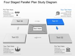 Ms Four Staged Parallel Plan Study Diagram Powerpoint Template Slide