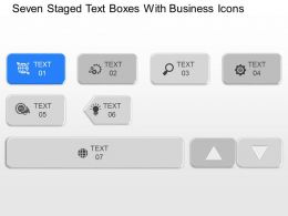 ms Seven Staged Text Boxes With Business Icons Powerpoint Temptate