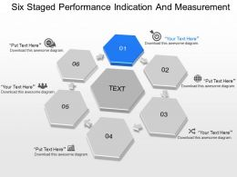 ms Six Staged Performance Indication And Measurement Powerpoint Template