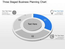 Ms Three Staged Business Planning Chart Powerpoint Template Slide