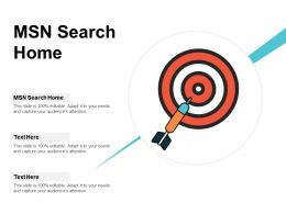 MSN Search Home Ppt Powerpoint Presentation Gallery Example Cpb