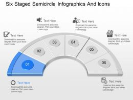 mt Six Staged Semicircle Infographics And Icons Powerpoint Temptate