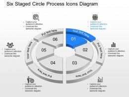mu Six Staged Circle Process Icons Diagram Powerpoint Template