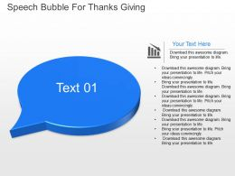 mu Speech Bubble For Thanks Giving Powerpoint Temptate