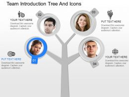 mu Team Introduction Tree And Icons Powerpoint Template