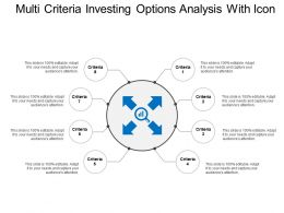 Multi 8 Criteria Investing Options Analysis With Icon