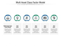 Multi Asset Class Factor Model Ppt Powerpoint Presentation Portfolio Graphic Images Cpb