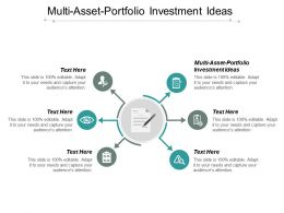 Multi Asset Portfolio Investment Ideas Ppt Powerpoint Presentation Styles File Formats Cpb