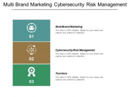 Multi Brand Marketing Cybersecurity Risk Management Supply Chain Management Cpb