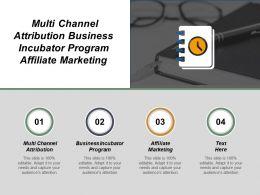 Multi Channel Attribution Business Incubator Program Affiliate Marketing Cpb